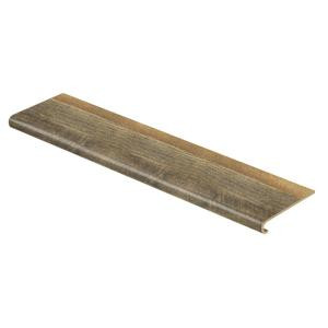 Cap A Tread Ann Arbor Oak 47 in. Length x 12-1/8 in. Deep x 1-11/16 in. Height Laminate to Cover Stairs 1 in. Thick-016071762 206042541