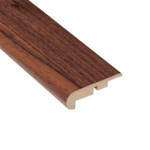 Home Legend High Gloss Makena Koa 7/16 in. Thick x 2-1/4 in. Wide x 94 in. Length Laminate Stairnose Molding-HL99SN 202928985