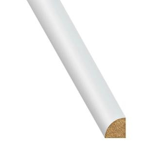 Innovations White 3/4 in. Thick x 3/4 in. Wide x 94-1/4 in. Length Laminate Quarter Round Molding-QRF50005 206641596