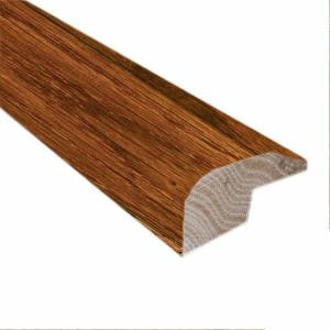Millstead Oak .88 in. Thick x 2 in. Wide x 78 in. Length Gunstock Carpet Reducer/Baby T-Molding-LM6229 202808453