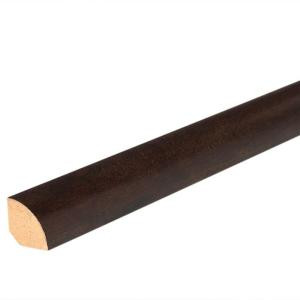 Mohawk Ebony Teak 3/4 in. Thick x 5/8 in. Wide x 94-1/2 in. Length Laminate Quarter Round Molding-MQND-01959 205506118