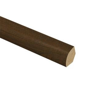 Zamma Auburn Scraped Oak 5/8 in. Thick x 3/4 in. Wide x 94 in. Length Laminate Quarter Round Molding-013141811 206955223