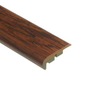 Zamma Distressed Brown Hickory 3/4 in. Thick x 2-1/8 in. Wide x 94 in. Length Laminate Stair Nose Molding-0137541525 204257338
