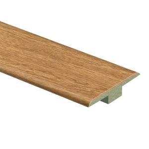 Zamma Haley Oak 7/16 in. Thick x 1-3/4 in. Wide x 72 in. Length Laminate T-Molding-013221730 205655757