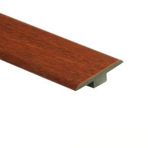 Zamma High Gloss Natural Jatoba 7/16 in. Thick x 1-3/4 in. Wide x 72 in. Length Laminate T-Molding-013221583 203611014