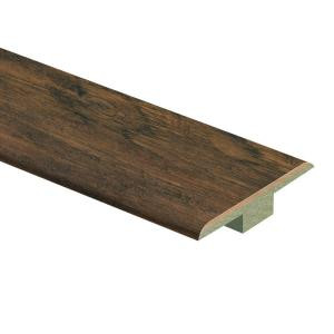 Zamma Saratoga Hickory Handscraped 7/16 in. Thick x 1-3/4 in. Wide x 72 in. Length Laminate T-Molding-013221608 203636588