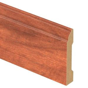 Zamma South American Cherry 9/16 in. Thick x 3-1/4 in. Wide x 94 in. Length Laminate Base Molding-013041799 206528991