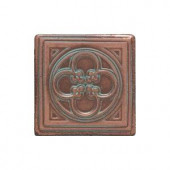 Daltile Castle Metals 2 in. x 2 in. Aged Copper Metal Insert Accent Tile-CM0122DOTA1P 202044723
