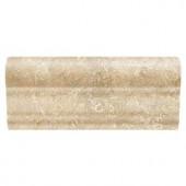 Daltile Fantesa Cameo 2 in. x 6 in. Ceramic Counter Rail Trim Wall Tile-FN9926CRWCC1P2 203213523