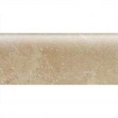 Daltile Sandalo Acacia Beige 3 in. x 9 in. Ceramic Bullnose Wall Tile-SW91S43091P2 203719653