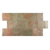 FastStone+ Copper 6 in. x 9 in. Slate Peel and Stick Wall Tile (4.5 sq. ft. / pack)-70-047-03-01 207041417