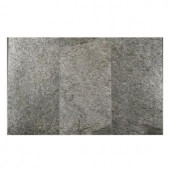 FastStone+ Silver Shine 12 in. x 24 in. Slate Peel and Stick Wall Tile (6 sq. ft. / pack)-70-046-05-01 207041390