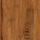 Home Legend Hand Scraped Distressed Strand Woven Hazelnut 3/8 in. x 5-1/8 in. x 36 in. Click Lock Bamboo Flooring (25.625 sqft/case)-HL261H 206458112