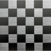 Instant Mosaic 12 in. x 12 in. Peel and Stick Brushed Stainless Metal Wall Tile-EKB-03-104 204312780