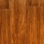 Islander Carbonized Handscraped 9/16 in. Thick x 4 in. Wide x Random Length Engineered Strand Bamboo Flooring (31.51 sq.ft./case)-12-1-003 204907533