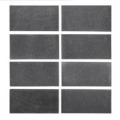 Jeff Lewis 3 in. x 6 in. Honed Basalt Field Wall Tile (8-pieces / pack)-98468 207174608