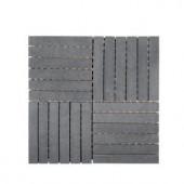 Jeff Lewis Hudson Basalt 11-7/8 in. x 11-7/8 in. x 8 mm Basalt Mosaic Tile-98481 207174624