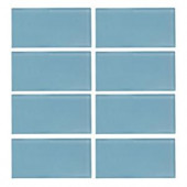 Jeffrey Court Caribbean Water Gloss 3 in. x 6 in. x 8 mm Glass Wall Tile-99514 202663560