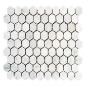 Jeffrey Court Carrara Constellation 10-7/8 in. x 11-5/8 in. x 8 mm Marble Mosaic Tile-99354 205948403