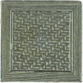 MARAZZI Montagna Nickel 2 in. x 2 in. Metal Resin Basketweave Decorative Floor/Wall Tile-UGAC 100646383
