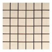 MONO SERRA Italia Zen Bianco 12 in. x 12 in. x 8 mm Porcelain Mosaic Tile-9541 206706688
