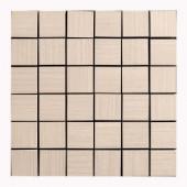 MONO SERRA Italia Zen Crema 12 in. x 12 in. x 8 mm Porcelain Mosaic Tile-9539 206706655