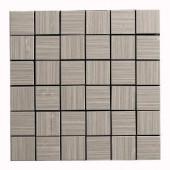 MONO SERRA Italia Zen Gris 12 in. x 12 in. x 8 mm Porcelain Mosaic Tile-9537 206706653