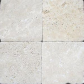 MS International Chiaro 6 in. x 6 in. Tumbled Travertine Floor and Wall Tile (1 sq. ft. / case)-THDW3-T-CH6X6T 100664345
