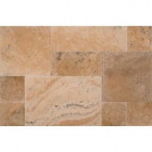 MS International Philadelphia Pattern Honed-Unfilled-Chipped-Brushed Travertine Floor and Wall Tile (5 kits / 80 sq. ft. / pallet)-TTPHIL-PAT-HUCB 205762420