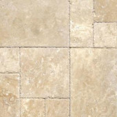 MS International Tuscany Beige Pattern Honed-Unfilled-Chipped Travertine Floor and Wall Tile (5 Kits / 80 sq. ft. / Pallet)-TTBEIG-PAT-HUFC 205088376