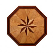 PID Floors 3/4 in. Thick x 24 in. Wide Octagon Medallion Unfinished Decorative Wood Floor Inlay MT002-MT0020 203424468