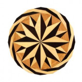 PID Floors 3/4 in. Thick x 36 in. Wide Circular Medallion Unfinished Decorative Wood Floor Inlay MC001-MC0011 203424580