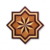 PID Floors 3/4 in. Thick x 36 in. Wide Star Medallion Unfinished Decorative Wood Floor Inlay MS001-MS0011 203424576