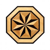 PID Floors Octagon Medallion Unfinished Decorative Wood Floor Inlay MT003 - 5 in. x 3 in. Take Home Sample-MT003S 203825029