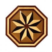 PID Floors Octagon Medallion Unfinished Decorative Wood Floor Inlay MT004 - 5 in. x 3 in. Take Home Sample-MT004S 203825002