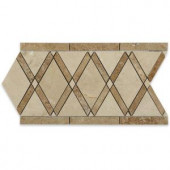 Splashback Tile Grand Crema Marfil Noce Border 6 in. x 12 in. x 10 mm Polished Marble Floor and Wall Tile-GDNOCBD 206823011
