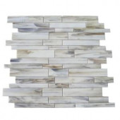 Splashback Tile Matchstix Halo 10 in. x 11 in. x 8 mm Glass Mosaic Floor and Wall Tile-MATCHSTIX HALO GLASS TILE 204289147