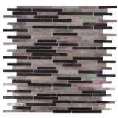 Splashback Tile Matchstix Stir Crazy 10 in. x 11 in. x 8 mm Glass Mosaic Floor and Wall Tile-MATCHSTIX STIR CRAZY GLASS TILE 204279046