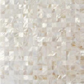 Splashback Tile Mother of Pearl White Square Pearl Shell Mosaic Floor and Wall Tile - 3 in. x 6 in. Tile Sample-C3C9 206496950