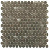 Splashback Tile Silver Penny Round 12 in. x 12 in. x 8 mm Stainless Steel Metal Mosaic Floor and Wall Tiles-METAL SILVER STAINLESS STEEL PENNY ROUND 203061666
