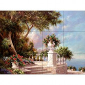The Tile Mural Store Balcony at Lake Como 17 in. x 12-3/4 in. Ceramic Mural Wall Tile-15-1322-1712-6C 205842756
