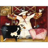 The Tile Mural Store Barn Dance 17 in. x 12-3/4 in. Ceramic Mural Wall Tile-15-628-1712-6C 205842708