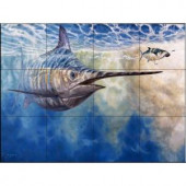 The Tile Mural Store Chasing the Carrot 17 in. x 12-3/4 in. Ceramic Mural Wall Tile-15-2320-1712-6C 205842886