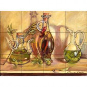 The Tile Mural Store Olive Oil Jars 24 in. x 18 in. Ceramic Mural Wall Tile-15-1334-2418-6C 205842801