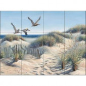 The Tile Mural Store Pelican Trio 24 in. x 18 in. Ceramic Mural Wall Tile-15-108-2418-6C 205842609