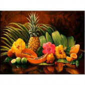 The Tile Mural Store Tropicana 17 in. x 12-3/4 in. Ceramic Mural Wall Tile-15-1062-1712-6C 205842747
