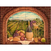 The Tile Mural Store Tuscan Wine II 24 in. x 18 in. Ceramic Mural Wall Tile-15-1691-2418-6C 205842819