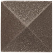 Weybridge 2 in. x 2 in. Cast Metal Pyramid Dot Brushed Nickel Tile (10 pieces / case)-TILE471024001HD 203381215