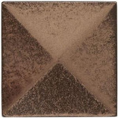 Weybridge 2 in. x 2 in. Cast Metal Pyramid Dot Classic Bronze Tile (10 pieces / case)-TILE471002001HD 203381214
