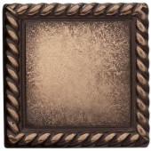 Weybridge 2 in. x 2 in. Cast Metal Rope Dot Classic Bronze Tile (10 pieces / case)-TILE470002001HD 203381211
